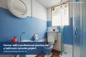 partner with a professional plumber for a bathroom remodel project