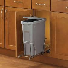 Kitchen cabinet trash can Swing Out 17 In The Home Depot Pull Out Trash Cans Pull Out Cabinet Organizers The Home Depot