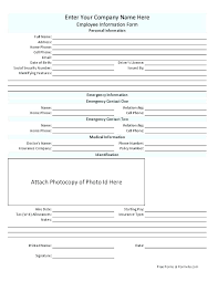 Student Emergency Contact Form Template Medical Consent