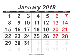 calendar january 2018 template january 2018 calendar templates whatisthedatetoday com