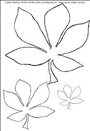 Horse Chestnut Leaf Outline Template For Craft Activity