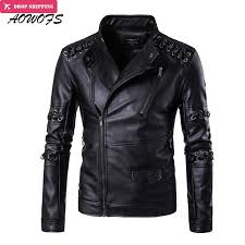 2019 whole aowofs leather jackets men spring new criss cross strings punk leather jackets plus size 5xl vintage motorcycle jackets coats from cacy