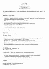 Resume for Management Position 20 Resume for Hr Position ...
