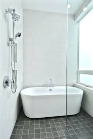 freestanding tub shower incredible small bathtub bathroom with and combo curtain ring free standing bathrooms on lirr