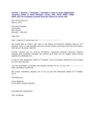 Letter Format To A Bank Copy Template Loan Note Template Consent