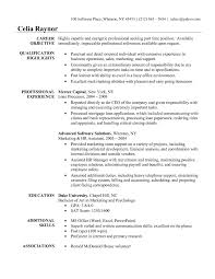 Administrative Resume Objective Examples Examples Of Resumes