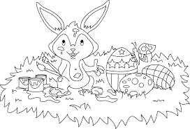 domestic rabbit easter bunny hare coloring book