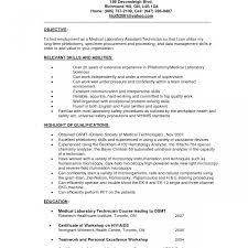 Cover Letter Sample Resume For Laboratory Technician Medical Lab Pdf