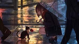 Rain Anime Girl 4K Wallpapers - Top ...