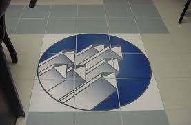 ceramic printing custom tile blue floor mural