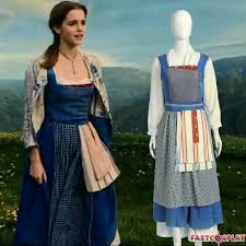 Belle Blue Dress Pattern Simple 48 Beauty And The Beast Princess Belle Blue Dress Belle Maid Costume