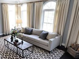 marvelous living room ds beige curtains black leg white couch grey patterned rug black rectangle cuboid table grey wall