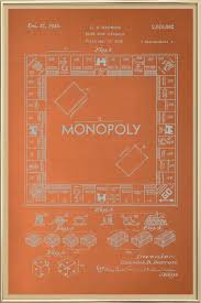 darrow monopoly poster in aluminium frame by americanflat