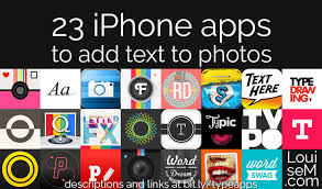 23 iphone apps to add text to photos