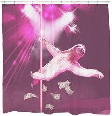 2Stripper Sloth Shower Curtain