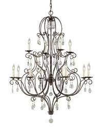 murray feiss f1938 8 4mbz cau 12 light chandelier mocha