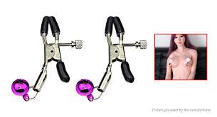 Bell <b>Nipple</b> Clamps Shaking Stimulate <b>Female Breast Clips</b> ...