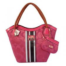 Coach Braided In Signature Small Pink Totes 117
