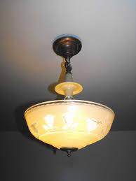 gorgeous vintage art deco chandelier pendant fixture 1930