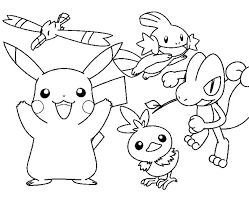 pikachu coloring pages pokemon and friends