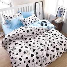 wongs brand milk cow bedding set cartoon duvet cover pillowcases throughout designs 1