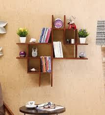 sheesham wood floating book shelf