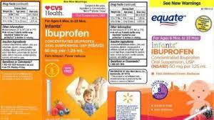 Infant Ibuprofen Chart Recall Of Infant Ibuprofen Sold At Walmart Cvs Expanded