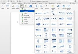 Smart Chart Word How To Make A Timeline In Word Free Template Teamgantt