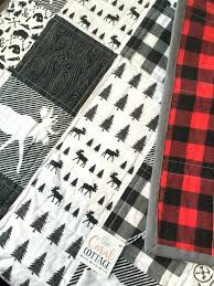 Patchwork Plaid Quilt Twin Plaid Patchwork Quilts Martha Stewart ... & Plaid Patchwork Quilt Set Woodland Baby Quilt Buffalo Plaid By  Thecoralcottage On Etsy Martha Stewart Collection Adamdwight.com