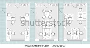 small office plans. Standard Furniture Symbols Used In Architecture Plans Icons Set, Office Planning Blueprint, Graphic Design Small