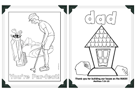 Father Day Coloring Pages Religious