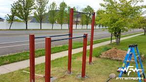 How To Make An Outdoor Pullup Bar And Parallel Bars  DIY Fitness Backyard Pull Up Bar Plans