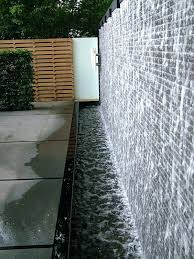 diy indoor glass water wall feature deck walls and