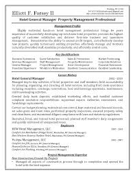 Hospitality Management Resume Objective Hospitality Samplesume
