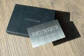 Steel Business Cards Brushed Stainless Steel Cards