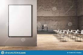 Modern Math Classroom Design Modern Classroom With Billboard Stock Illustration