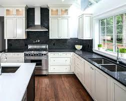 granite kitchen countertops with white cabinets. White Cabinets With Dark Granite Kitchen Designs And  Shaker Countertops C