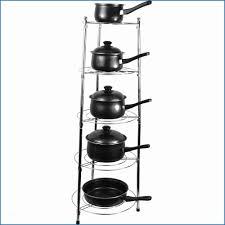 charming standing pot rack 10 7 tier wall mount wooden for minimalist kitchen organization idea your organizer design jk adams mounted