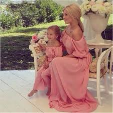 2017 New <b>Mother Mom</b> Daughter Dresses 3 Color Long Dress ...