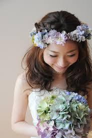 ブライダルヘアスタイル 花冠