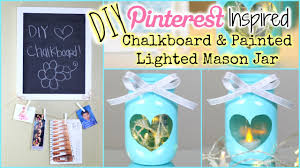 Crafts With Mason Jars Diy Pinterest Inspired Painted Lighted Mason Jar Diy Chalkboard