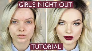 acne coverage s night out makeup tutorial mypaleskin you something bad