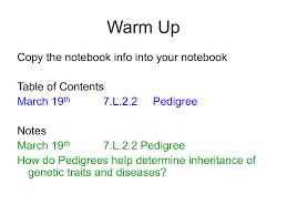 Pedigree Powerpoint