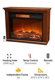 lifesmart oak freestanding electric fireplace heater