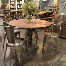 industrial kitchen table furniture. French Soda Fountain Round Table 47quot Industrial Dining Room Kitchen Furniture M