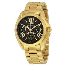 michael kors bradshaw gold tone stainless steel ladies watch zoom