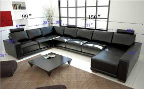 Modern Black Sectional Sofa TOS LF 1001