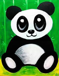 cute panda canvas paint idea for wall decor panda bear canvas painting wall art  on panda canvas wall art with cute panda canvas paint idea for wall decor panda bear canvas