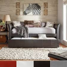 white and grey bedroom furniture. Deco Faux Leather Daybed And Trundle By INSPIRE Q Bold White Grey Bedroom Furniture