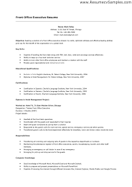 Front Desk Resume Sample Sarahepps Com